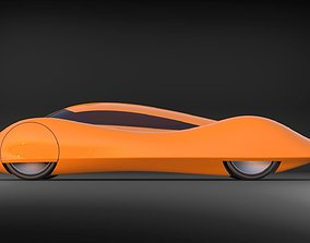 Electric car for speed record 3D model