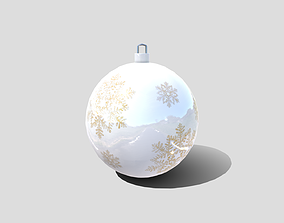 3D model low-poly Christmas Bauble