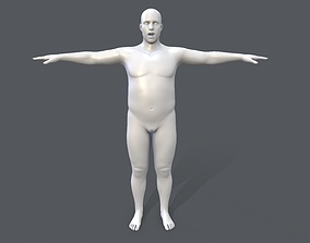 3D model Middle poly male basemesh - 4