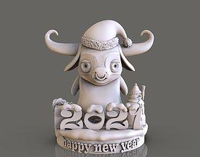 bull Happy New Year 3D print model