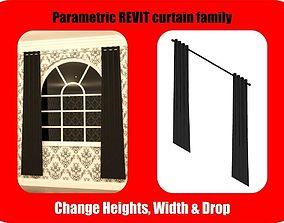 3D model Parametric Revit Curtains