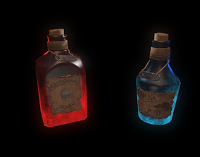 3D model low-poly Potion Bottle