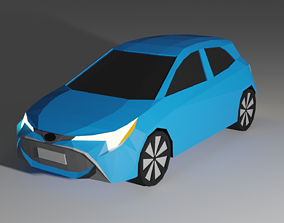 Low Poly Toyota Corolla Hatch 3D model