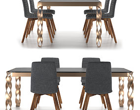 3D model dining table 02