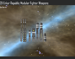 3D model 2D Enkar Republic Modular Fighter Weapons