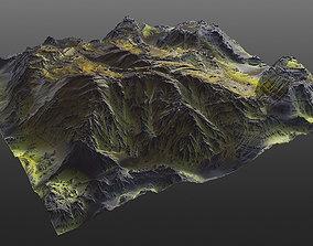 3D model Mossy Mountain PBR