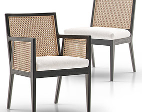PB Lisbon Cane Dining Chair and Armchair 3D model