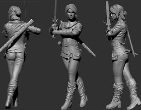 3D print model Ciri from Witcher 3