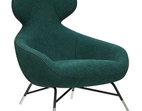 Tremendous 3D Roche Bobois Edito Armchair Cgtrader Beatyapartments Chair Design Images Beatyapartmentscom