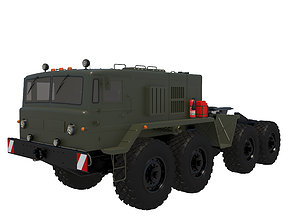 3D model Military vehicle MAZ-537G