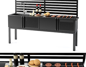 3D model Barbecue 02