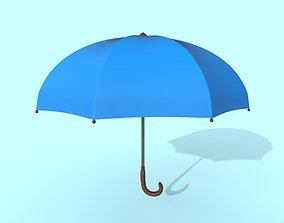 3D model Umbrella blue