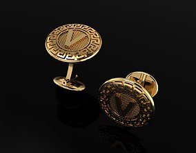 3D print model VERSACHE A-Z ALPHABET CUFFLINKS FOR MEN