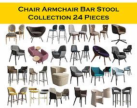 CHAIR ARMCHAIR BAR STOOL COLLECTION 3D