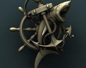 Shark anchor 3d stl model for CNC