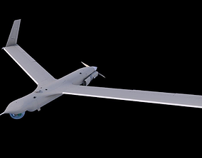 ScanEagle UAV Drone C4D Rigged 3D animated
