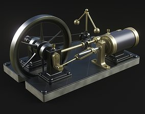 3D model Steam engine vehicle