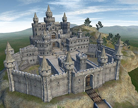3D asset Castle - Game ready