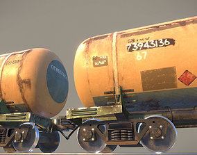 Railway Oil Tank Car vr1 3D asset realtime