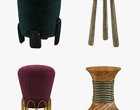 Brabbu stools set 3D