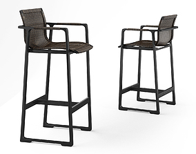 Holly Hunt Keel Bar stool and counter stool 3D model