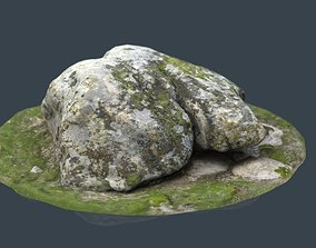 3D model low-poly PBR ROCK 38