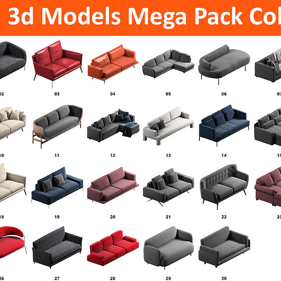 30 Sofa Mega Pack Collection