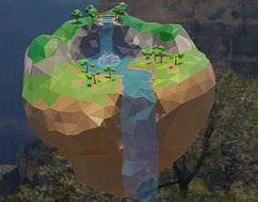 3D printable model low poly island