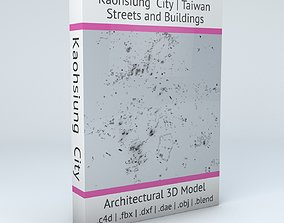 topology 3D Kaohsiung City Streets and Buildings