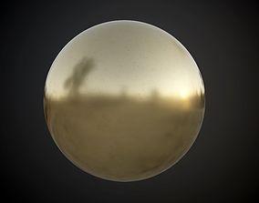 Metal Brass Seamless PBR Texture 3D