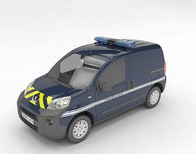 gendarmerie Peugeot Bipper 3D