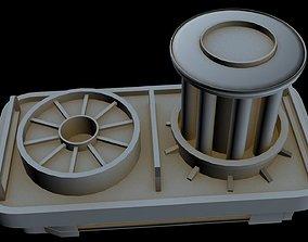 Starship part 10 3D model laser