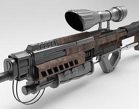 3D asset Sci Fi Gun