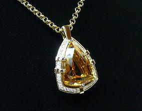 large 3d model of pendant
