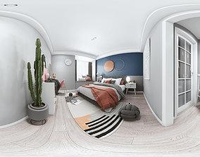 3D model Modern bedroom panorama
