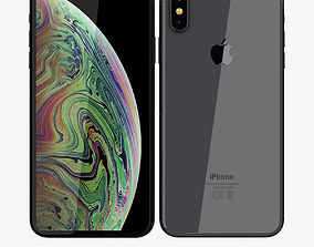 Apple iPhone XS Max Space Gray 3D model