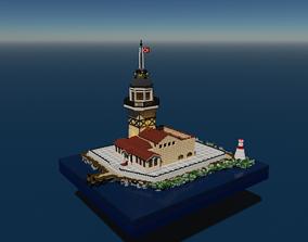Voxel Maiden Tower 3D asset