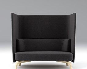 3D lammhults Portus Sofa