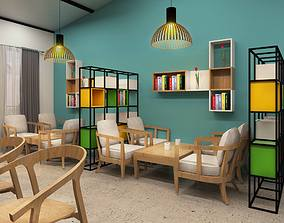 Cafe design 3D animated