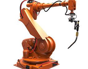 3D model rigged manipulator robot