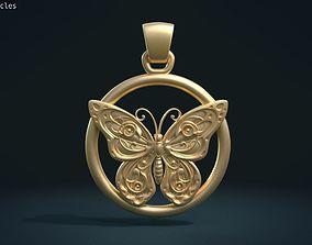 wings Butterfly Pendant 3D printable model