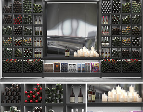 3D model Large wine rack with wine
