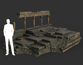 3D model Low poly Ancient Roman Ruin Construction 08 - 1