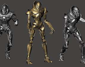 3 x CYLON toy soldiers 3D