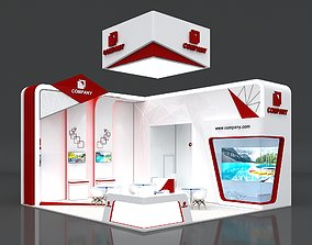 3D model Exhibition Booth Stand Stall 8x8m Height 500 cm 2