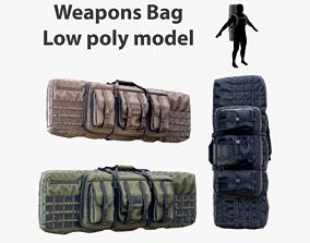 3D asset Weapon Bag Low poly