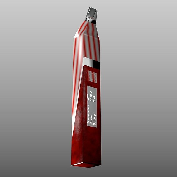 vape/e-cigarette red/white