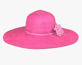 Floppy summer woman hat 01 3D model