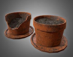 3D asset realtime Planter Pot Set - PBR Game Ready