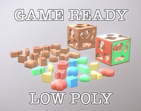 3D model Toy Block Box low poly game ready